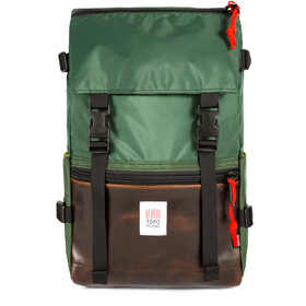 Topo Designs Rover Mochila, forest/brown leather